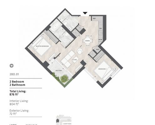 BIG King West Condos Floor Plans