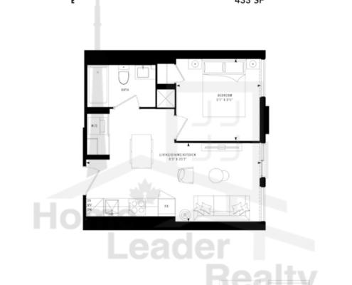 PRIME Condos - Floor plan - Prime 433