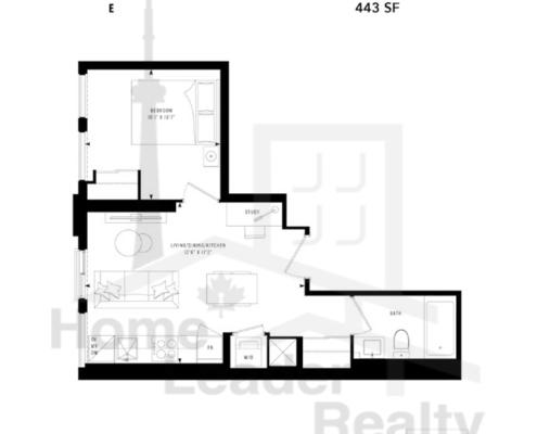 PRIME Condos - Floor plan - Prime 443