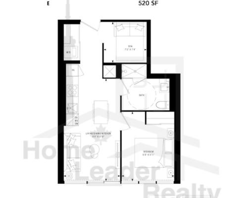 PRIME Condos - Floor plan - Prime 520