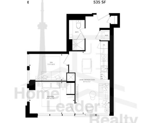 PRIME Condos - Floor plan - Prime 535