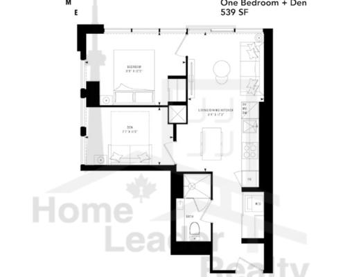 PRIME Condos - Floor plan - Prime 539