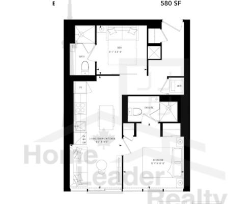 PRIME Condos - Floor plan - Prime 580