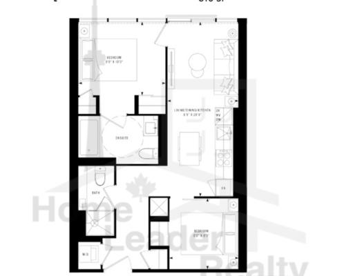 PRIME Condos - Floor plan - Prime 610(c)